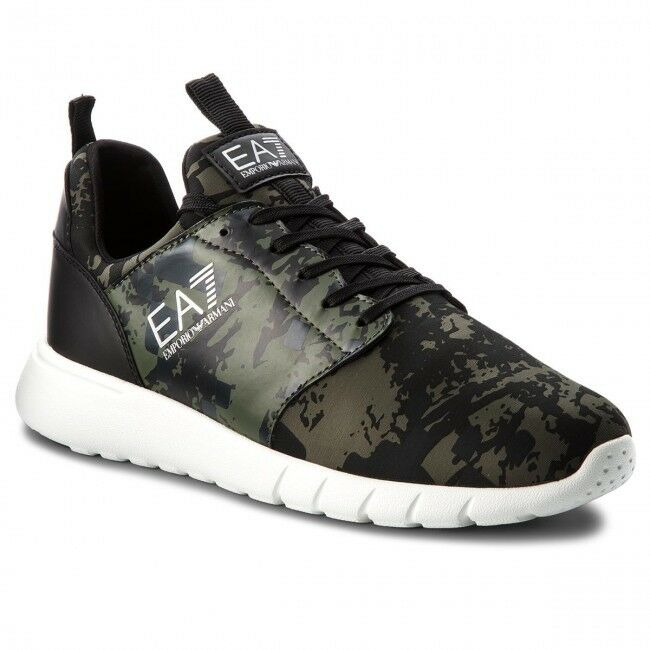 Sale Shoes EA7 Emporio Armani 7 Man EA X8X010  Trainer Camouflage Green
