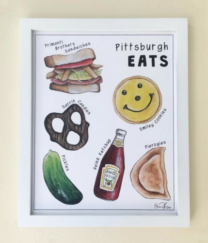 Pittsburgh Eats 8x10 Art Print Pittsburgh Food Pittsburgh Yinzer Wall Art