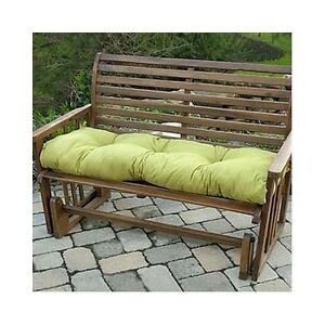 2 Bench Swing Glider Cushions Tufted Thick Padding Outdoor Patio