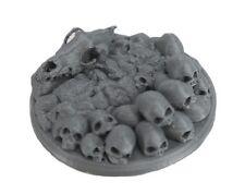 45mm Skull and Bones Display Base 3D Printed Miniature D&D Barbarian Creature