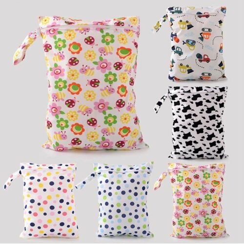 Baby Kids Waterproof Diaper Bag Zipper Cloth Diaper Nappy Storage Bag Portable