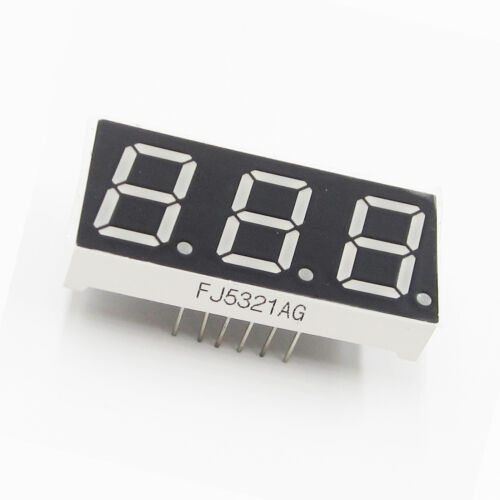 0.52 inch 3 digit Grüne Led display 7 segment Common cathode AHS