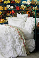 ANTHROPOLOGIE GEORGINA WHITE KING DUVET COVER *BRAND NEW IN PACKAGE*