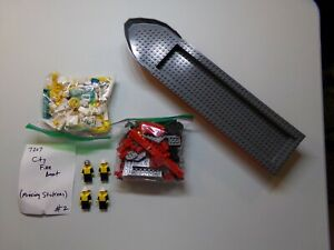 Lego-7207-City-Fire-Boat-100-Complete-but-Missing-Stickers-Lot-2