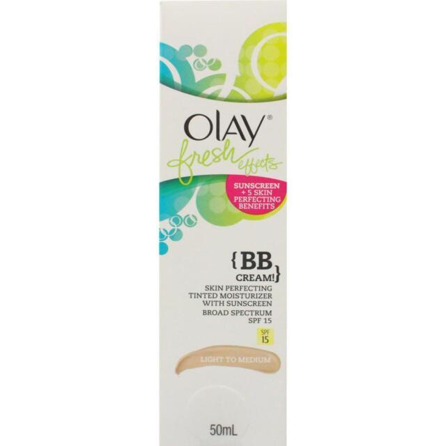 2 x Olay Fresh Effects BB Cream 50mL - Light To Medium