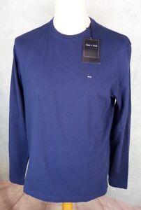 EDEN-PARK-Tee-shirt-uni-Homme-Taille-M-L-XL-XXL-3XL-4XL-5XL-Bleu-Marine