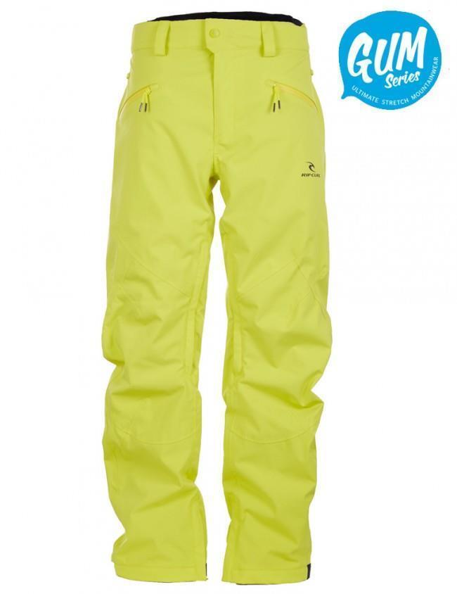 Rip Curl CORE GUM SNOW PANT Mens 20K 20K Snowboard Ski Pant SCPBB4 Sulphur Green