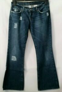 Lucky-Brand-Lil-Maggie-Button-Fly-Women-Jeans-Distressed-Size-27-W31-L29