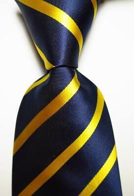 New Classic Polka Dot Black Gold JACQUARD WOVEN Silk Men/'s Tie Necktie