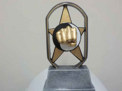 """karate trophy martial arts new design 5/"""" tall NEW with engraving"""