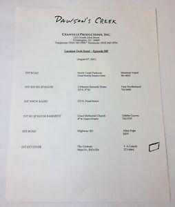 DAWSON-039-S-CREEK-set-used-TECH-SCOUT-MEMO-Season-5-Episode-5