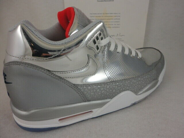 Nike Flight Squad QS, Metallic Silver   Mid Navy, Mirror, Size 10.5