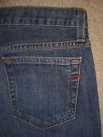 GAP Long & Lean Slight Flare Medium Blue Stretch Denim Jeans Women Sz 0 R x 32.5