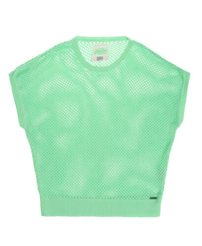 in maglia New Fluro Green Super shirt donna Hatch Factory da Womens Cross T di Superdry S41qxZ5wZ