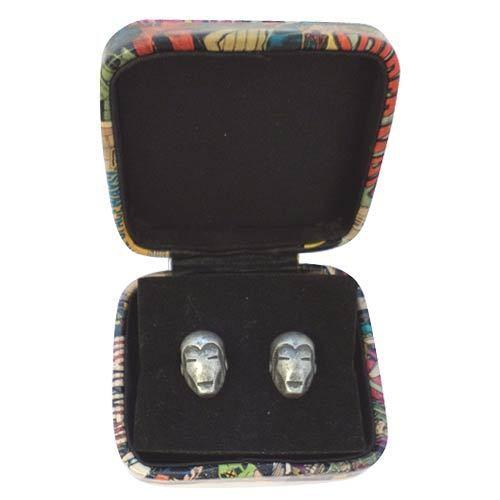 BRAND NEW IN GIFT BOX GIFT WEDDING IRONMAN CUFFLINKS MARVEL COMICS STEEL