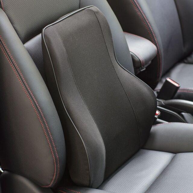Car Office Home Memory Foam Seat Chair Waist Lumbar Back Support Cushion Black