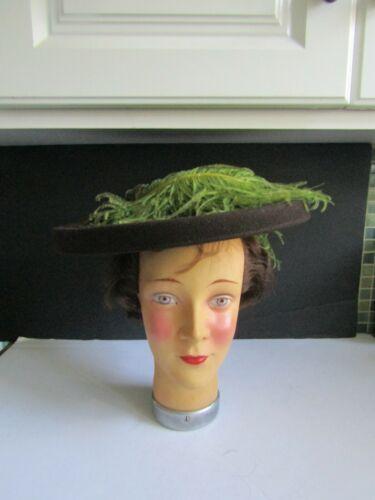 Vtg 1940's Holly-Vogue Wool Asymmetrical Hat Chart