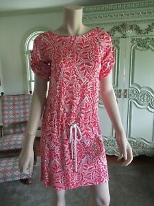 Lilly Pulitzer Beach Cover Up Or Dress Xs Red White Designssilk