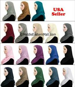 One-Piece-Cotton-Hijab-Slip-On-Hijabs-READY-JERSEY-Muslim-woman-Scarf