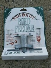 Soda Bottle Feeder Metal Quality Holder Recycle Bottles To Wild Bird Feeders New