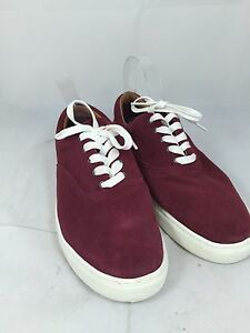 4c95ab263 Tommy Hilfiger Men s Red Suede Mitch Sneaker Shoes sz 8.5  80 ns8 10 ...