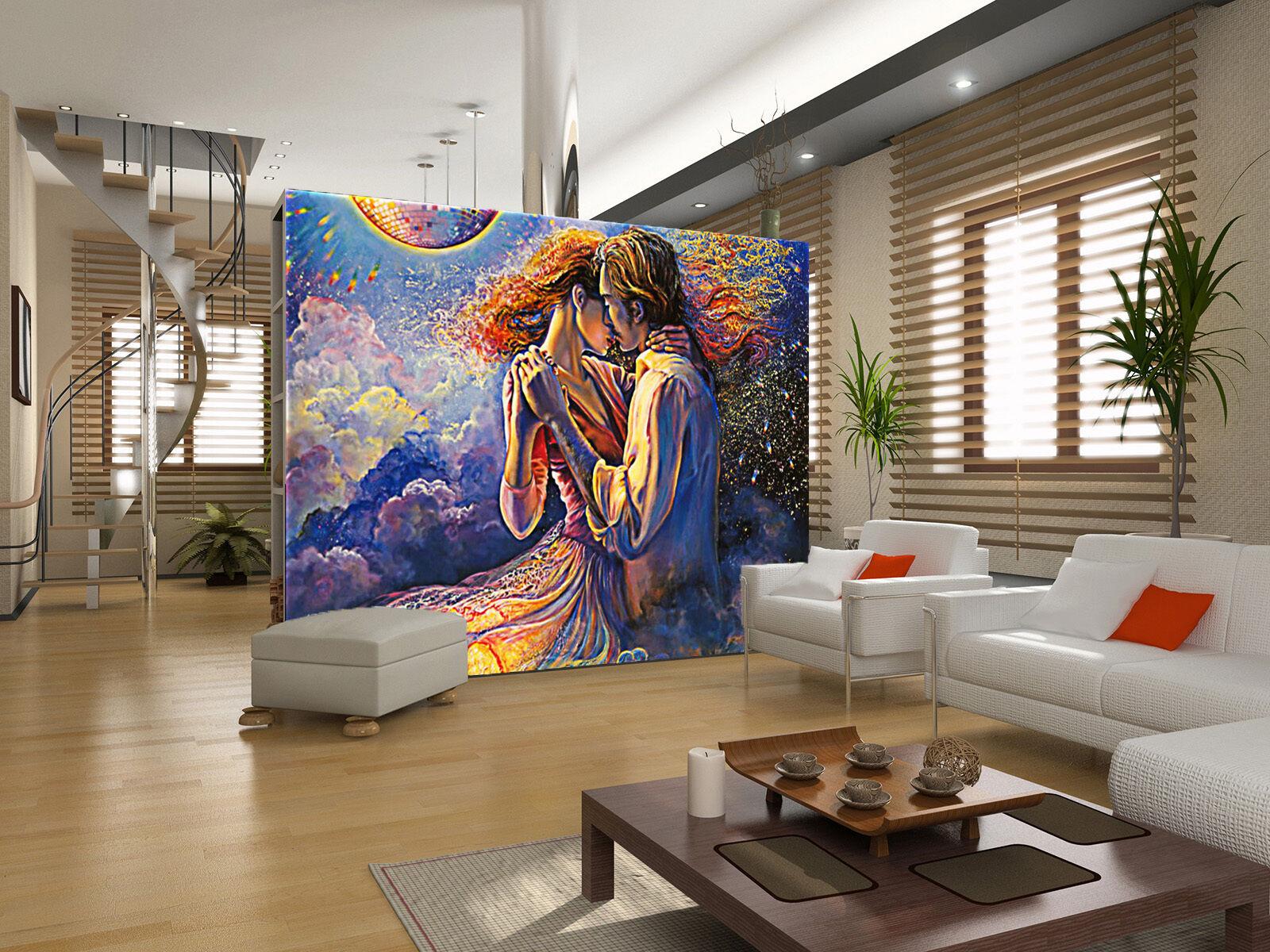 3D Luminous dancing Wall Paper wall Print Decal Wall Deco Indoor wall Mural