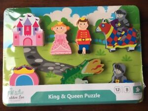 Cubbie-Lee-Toy-King-amp-Queen-Puzzle-Wood-Toddlers-amp-Preschool-8-pcs