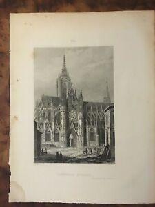 Gravure - Cathédrale d'EVREUX Dpt Eure - Librairie de Firmin Didot à PARIS