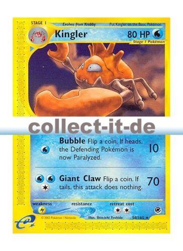 Kingler Expedition Englisch Pokemon 50//165