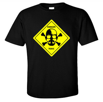Walter White Danger Toxic Breaking Bad Inspire Men/'s Black T-Shirt Size S to 3XL