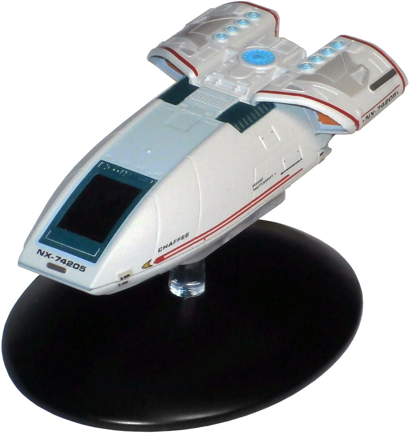 Type - 10 Chaffee Shuttle USS Defiant-MODELLO in METALLO STAR TREK Eaglemoss