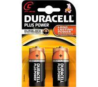 2 x Duracell C Size Plus Power Alkaline Batteries (LR14, MN1400, MX1400, BABY)