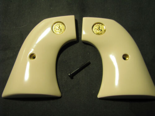 Colt SINGLE ACTION ARMY SAA 2nd/3rd Gen Bonded Ivory Grips w/Gold Medallions NEW