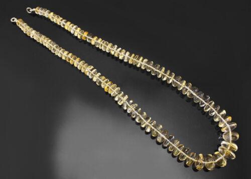 Magnifique Séduisante 345.00 cts naturel jaune citrine perles collier Strand