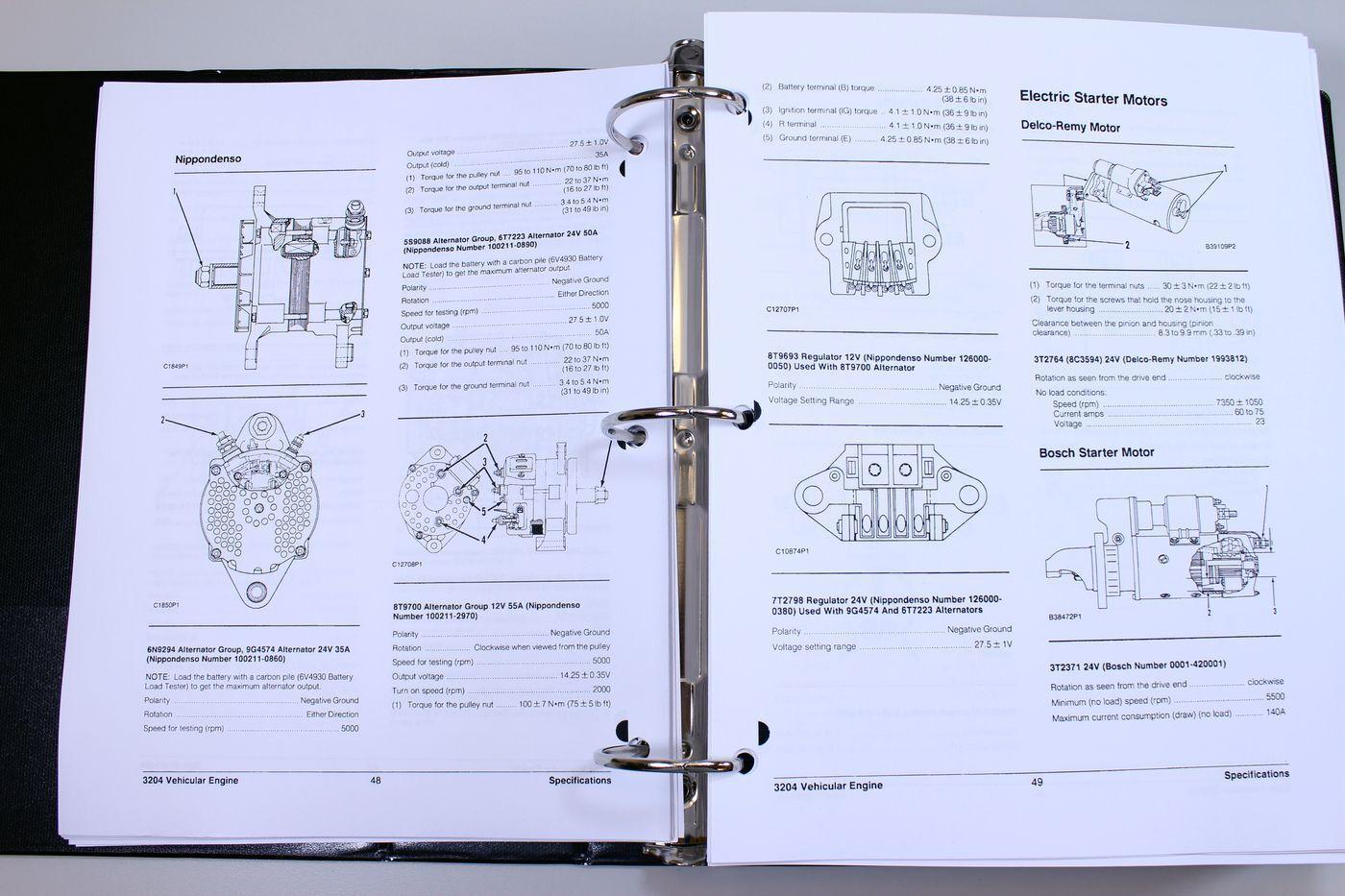 Cat Caterpillar 910 Wheel Loader Service Repair Manual Serial No 40y 3204 Engine Diagram S L1600
