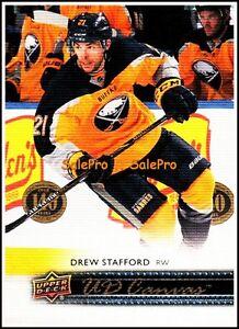 UPPER-DECK-2014-DREW-STAFFORD-NHL-BUFFALO-SABRES-UD-CANVAS-MINT-CARD-C130