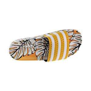 Adidas-Adilette-Women-039-s-Slides-Yellow-Off-White-Craft-Gold-D96682