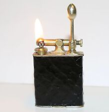 Vintage 18KT GOLD ELECTRO PLATE CLARK  Snakeskin Lighter  in Working Condition