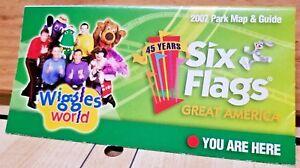 Park Map Six Flags Great America 2007 Gurnee Il Ebay