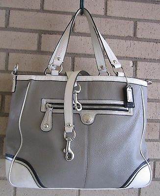 Coach Laura Leather Spectator Tote 15149 Taupe 2nd Long Strap $398 VGUC