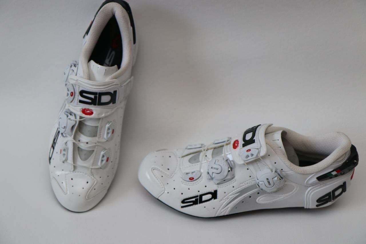 New Sidi Women's Wire White Road Bike shoes 39 7 Vent Carbon Race TT Tri