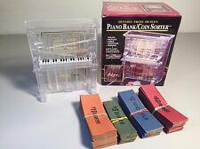 Piano Bank Coin Sorter w/Coin Rolls- NIB- Pennies From Heaven