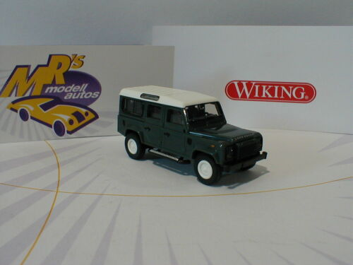 lungo Wiking 0102 02-Land Rover Defender 110 in verde scuro-bianco 1:87 NUOVO!