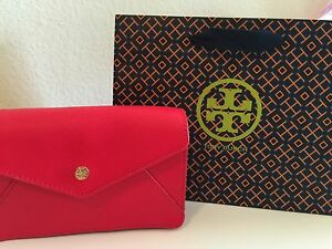 18a829930611 Image is loading BRAND-NEW-TORY-BURCH-Robinson-Envelope-Crossbody-Red