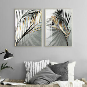 Leaves-Canvas-Painting-Art-Home-Living-Room-Picture-Poster-Wall-Decoration