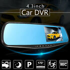 HD 4.3'' 1080P Car Rearview DVR Camera Mirror Dash Cam Video Recorder G-sensor
