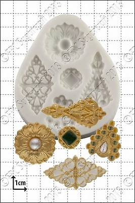 Silicone mould Filigree Brooches | Food Use FPC Sugarcraft FREE UK shipping!