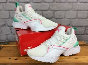 Puma-senoras-UK-6-EU-39-Muse-Maia-Street-Blanco-Rosa-Verde-Running-Zapatillas-LG