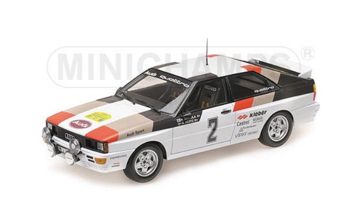 Audi  Quattro Rally Suède 1981 Mikkola Hertz  2 1 18 Minichamps 155811102 NEUF  boutique en ligne