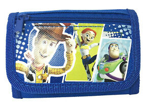 color Blue Disney Toy Story Small Tri Fold Wallet for kids
